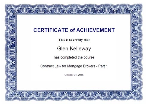 Course (Glen): Contract Law Part 1